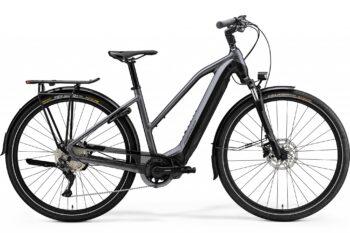 Elektrische fiets grijs voor vrouwen