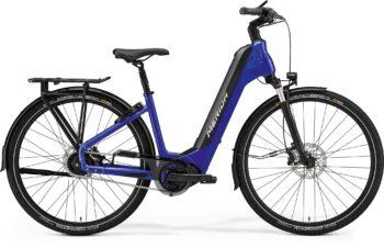 Elektrische fiets blauw voor vrouwen