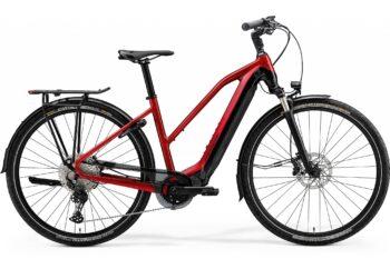 Elektrische fiets rood voor vrouwen