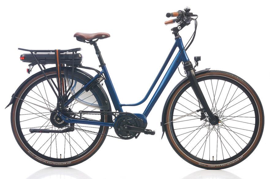 Blauwe elektrische fiets leasen